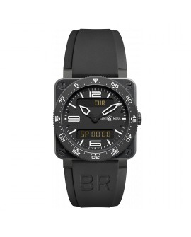 Montre Bell & Ross BR 03 Type Aviation Carbon BR0392-AVIA-CA