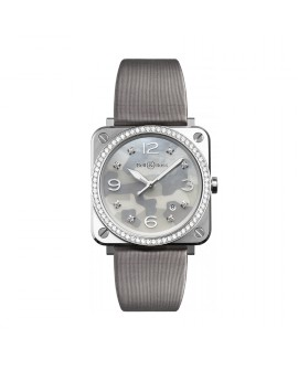 Montre Bell & Ross BR S Grey Camouflage Diamonds BRS-CAMO-ST-LGD