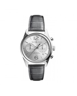 Montre Bell & Ross BR 126 Officer Silver BRG126-WH-ST/SCR