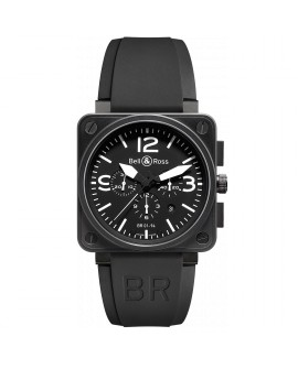 Montre Bell & Ross BR 01-94 Carbon BR0194-BL-CA